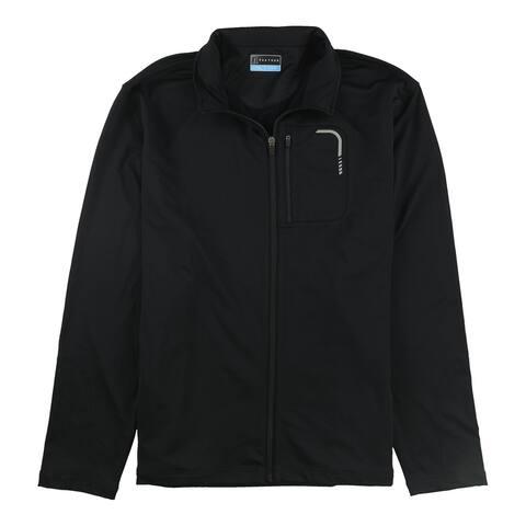PGA Tour Mens Full-Zip Sweatshirt, Black, Large