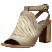 Miz Mooz Womens Shiloh Leather Peep Toe Casual T-Strap Sandals - 8.5