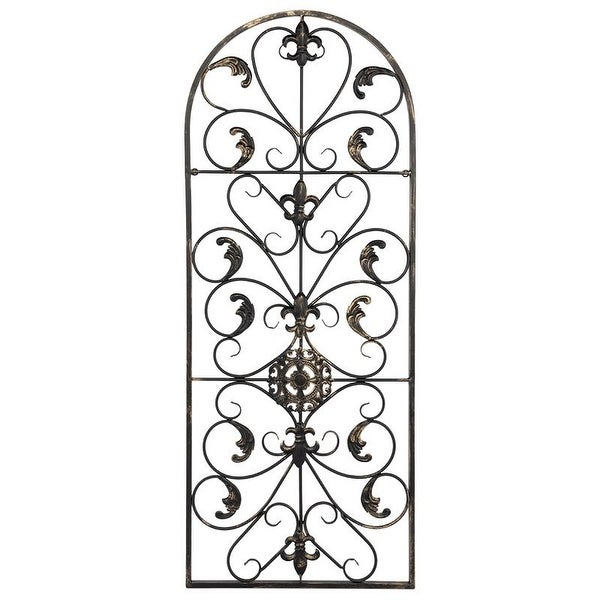 "41.5"" Retro Decorative Arch Wall Art Victorian Style Iron Ornament Vintage, Holiday Decorations, Christmas Wall Art. Opens flyout."