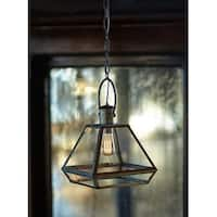 """Pack of 2 Industrial and Vintage Inspired Pendant Lantern Lights 57"""""""