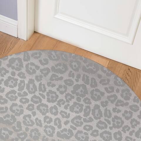 CHEETAH SILVER Indoor Floor Mat By Kavka Designs