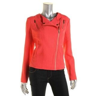 Calvin Klein Womens Textured Asymmetric Zip Jacket - M