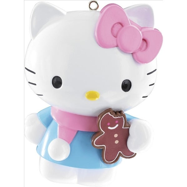 "3.5"" Carlton Cards Heirloom Hello Kitty Gingerbread Cookie Christmas Ornament"
