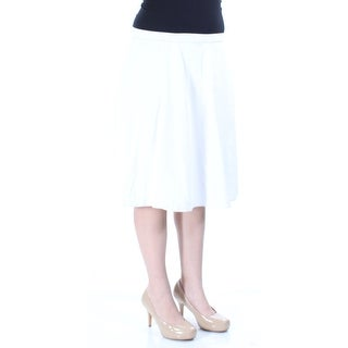 $70 NY COLLECTION New Womens 1167 Ivory Knee Length A-Line Skirt 8 B+B