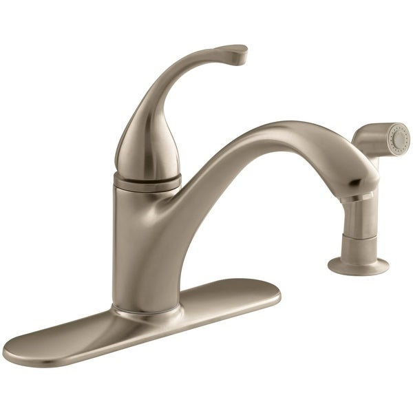 827c7f1acb5ef Kohler K-10412 Single Handle Kitchen Faucet with Side Spray from the Forte  Collection -