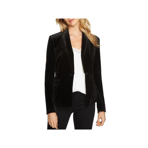 1.State Womens Blazer Velvet One-Button