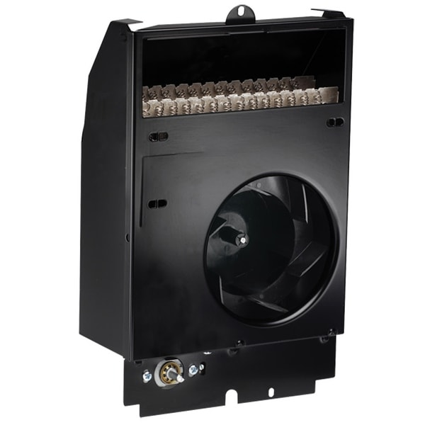 Cadet CS118T Com-Pak 3840 BTU Electric Wall Heater Assembly with Thermostat - Black
