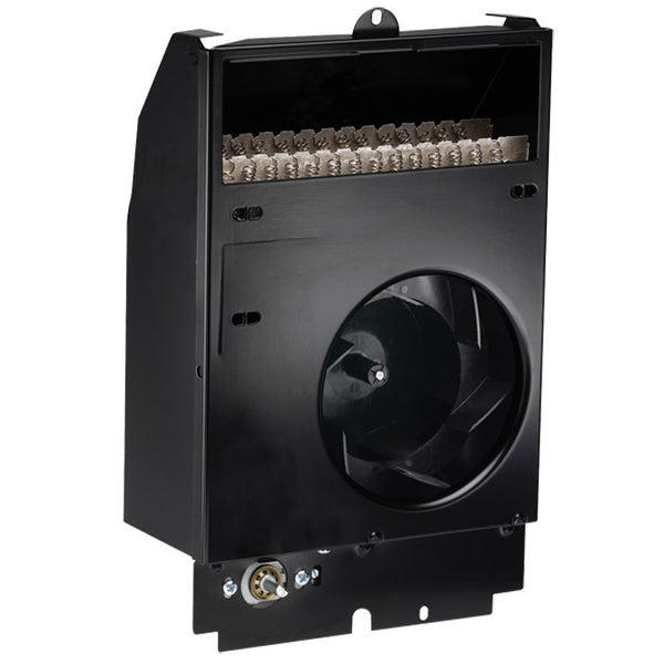 Cadet CS122T Com-Pak 4265 BTU Electric Wall Heater Assembly with Thermostat - Black