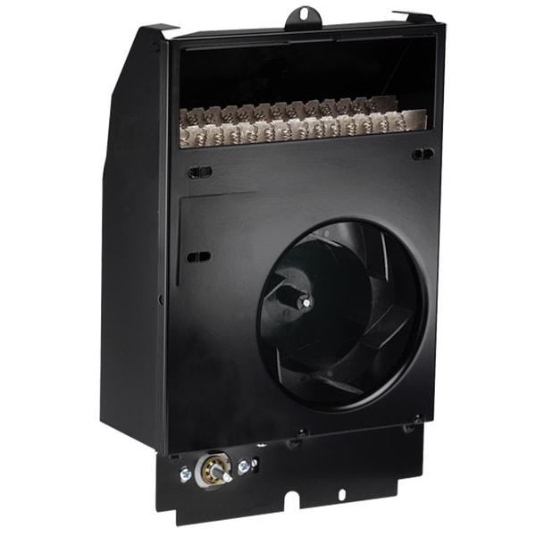 Cadet CS208T Com-Pak 6825 BTU 2000 Watt Electric Wall Heater Assembly with Thermostat - Black
