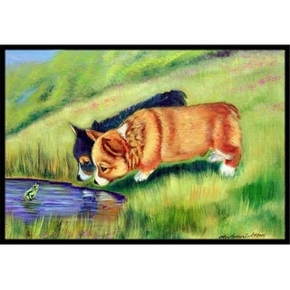 Carolines Treasures 7292JMAT 24 x 36 in. Corgi Indoor Or Outdoor Doormat