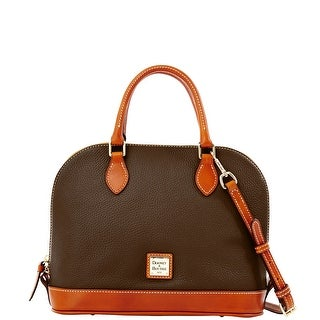 Dooney & Bourke Pebble Grain Zip Zip Satchel (Introduced by Dooney & Bourke at $198 in Dec 2013) - brown tmoro