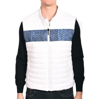 Roberto Cavalli Men Puffer Vest Jacket White
