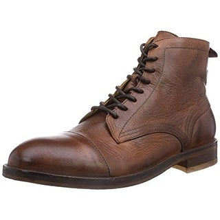 H by Hudson Mens Palmer Ankle Boots Leather Toe Cap