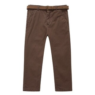 Richie House Baby Boys Brown Classic Bright Belted Pants 24M
