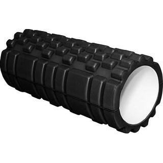"""Werk It! Grooved Deep Tissue Massage AccuPoint Foam Roller, 13"""", Black"""