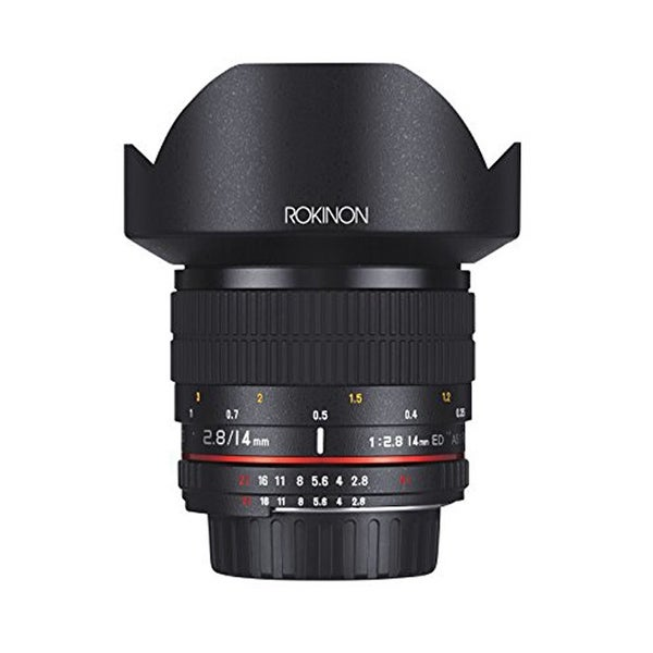 Rokinon 14mm f/2.8 IF ED UMC Lens For Nikon with AE Chip - Black