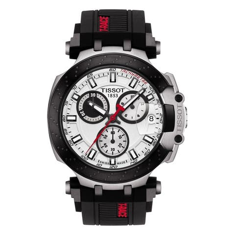 T-Race Chronograph Silicone Strap Watch - N/A