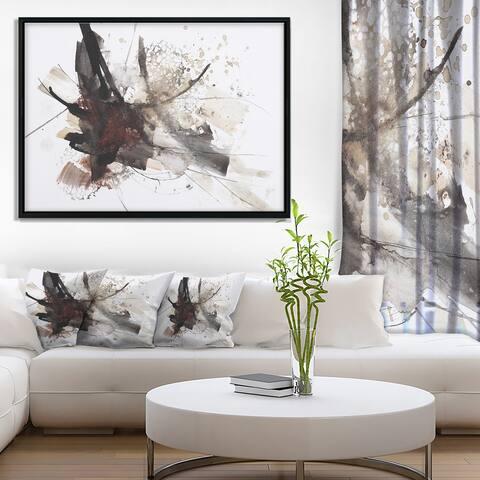 Designart 'Artistic Splash' Landscape Art Print Framed Canvas