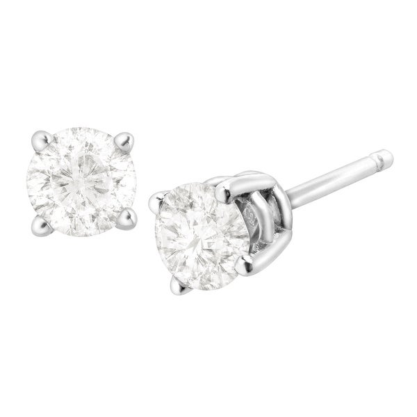 1/2 ct Diamond Stud Earrings in 10K White Gold