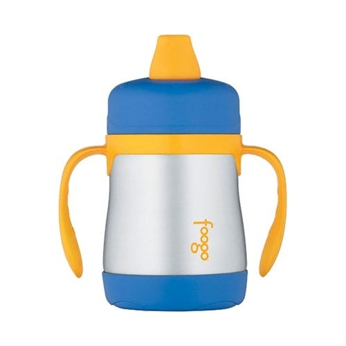 """""""Thermos Foogo Vacuum Insulated Soft Spout Sippy Cup - Blue Foogo Vacuum Insulated Soft Spout Sippy Cup - Blue"""""""