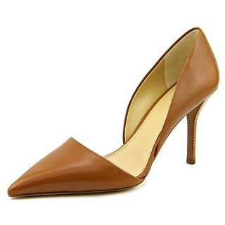 Michael Michael Kors Julieta D'Orsay Women Pointed Toe Leather Brown Heels