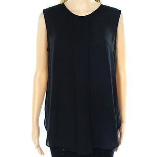 Vince Camuto NEW Black Women's Size Medium M Pleated Tank Cami Blouse