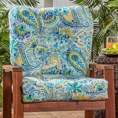 Christiansen Painted Paisley 21-inch x 42-inch Outdoor Seat/Back Chair Cushion by Havenside Home - 21w x 42l - 21w x 42l
