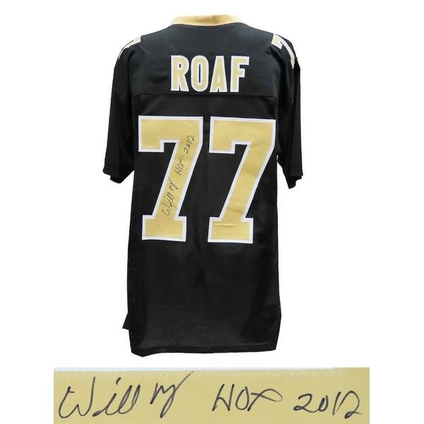 Willie Roaf Black Custom Jersey wHOF 2012 - Multi - 5' x 8'