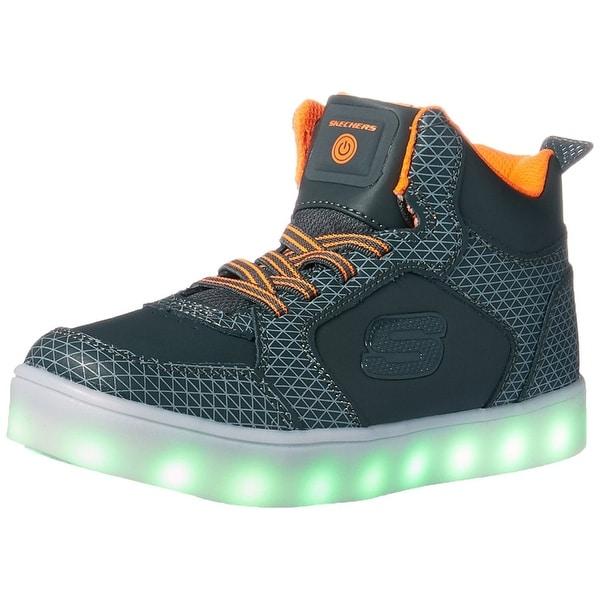 Shop Skechers Boys Energy Lights Tarvos Hight Top Walking