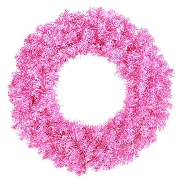 "36"" Sparkling Hot Pink Artificial Christmas Wreath - Unlit"