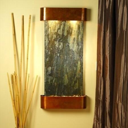 Adagio Cascade Springs Wall Fountain Green Solid Slate