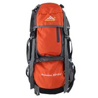 Unique Bargains HWJIANFENG Authorized Outdoor Trekking Pack Sport Bag Hiking Backpack Orange 55L