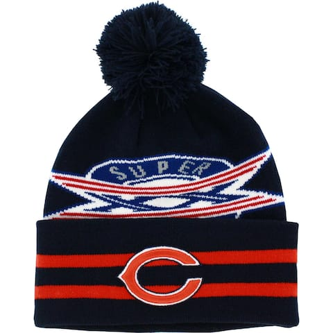Chicago Bears Superbowl XX Knit Hat with Pom