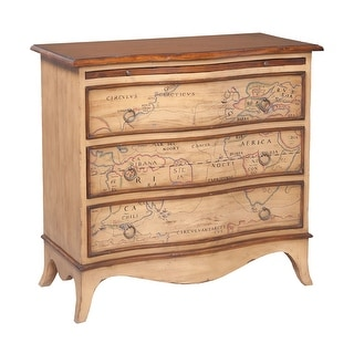 "GuildMaster 643544  Heritage 38"" Wide 3 Drawer Hand Painted Mahogany Dresser - Artisan Stain"