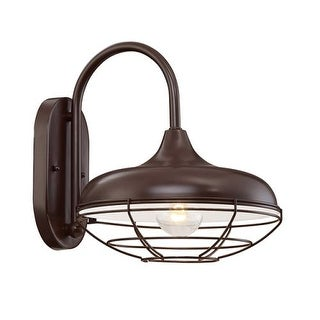 "Millennium Lighting 5441 R Series Single Light 11"" Tall Outdoor Wall Sconce with Wire Guard"