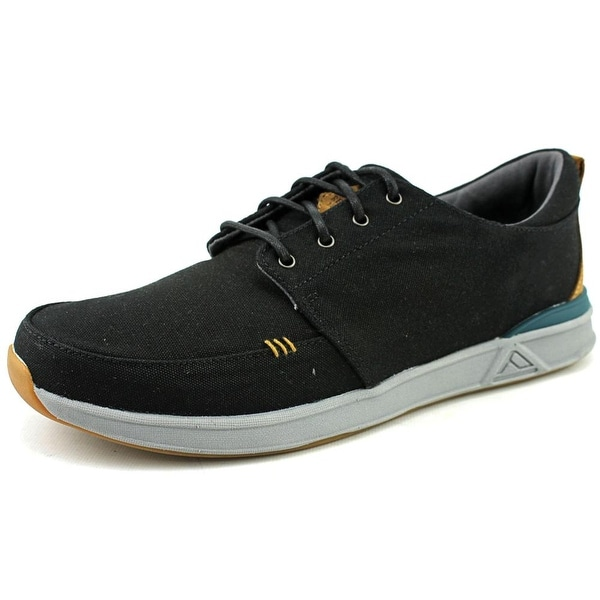 Reef Rover Low TX Men Round Toe Canvas Black Skate Shoe