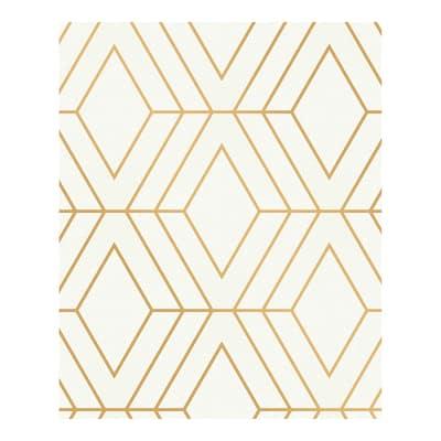 Adaline Off-white Geometric Wallpaper - 20.5 x 396 x 0.025