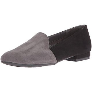 Aerosoles Womens Good Call Loafers Faux Suede Two Tone