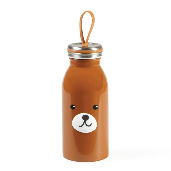 Animal Shaped Water Bottle - Bear - brown