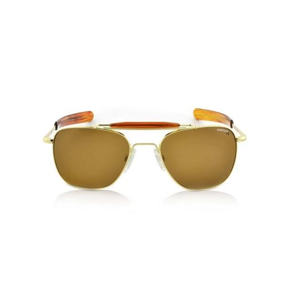 d7f5eaab1db Shop Randolph Engineering Aviator II Bayonet 55mm Gold Plated Polar Tan  Sunglasses - Free Shipping Today - Overstock - 15342513