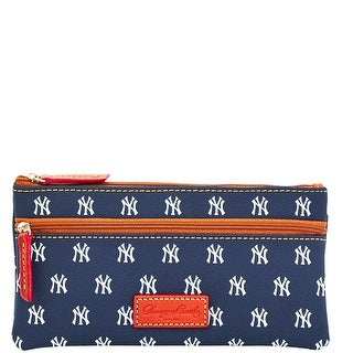 Dooney & Bourke MLB Yankees Double Zip Flat Pouch (Introduced by Dooney & Bourke at $85 in Oct 2015) - Navy