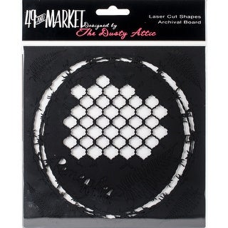 """49 & Market Archival Chipboard 6""""X6""""-Remember Today Black"""
