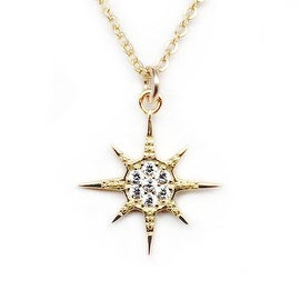 Julieta Jewelry Sunburst CZ Charm Necklace