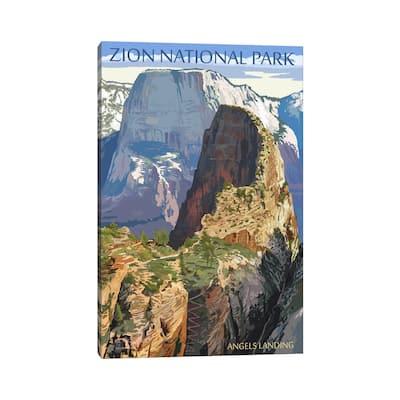 "iCanvas ""Zion National Park (Angels Landing I)"" by Lantern Press Canvas Print"