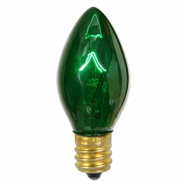 C7 Transparent Green 130V 5W Bulbs