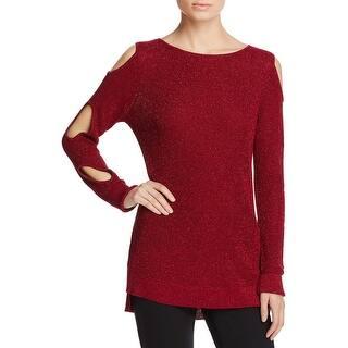 Love Scarlett Womens Pullover Sweater Metallic Cold Shoulder|https://ak1.ostkcdn.com/images/products/is/images/direct/5c79d97fa16ec9755e9c20b9fdcb4833778f1ccb/Love-Scarlett-Womens-Pullover-Sweater-Metallic-Cold-Shoulder.jpg?impolicy=medium