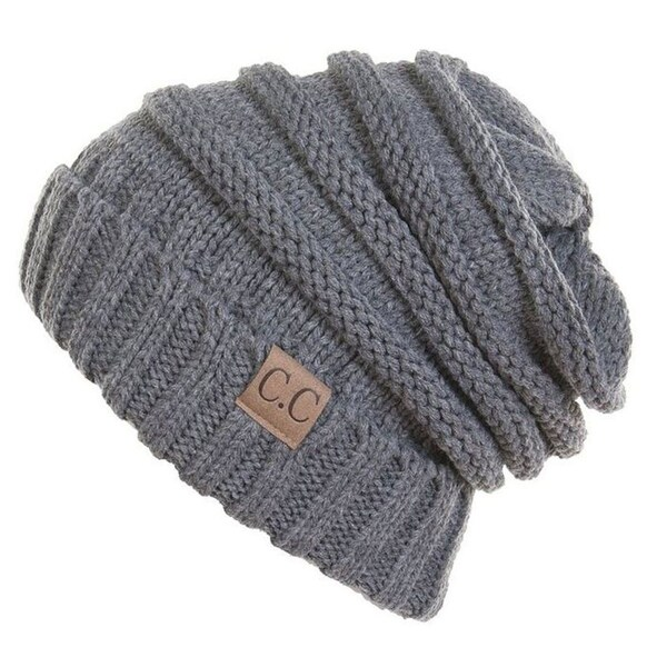 705167850fc Shop Unisex Soft Stretch Oversized Knit Slouchy Beanie (Lt Melange Grey) -  On Sale - Free Shipping On Orders Over  45 - Overstock - 23172782