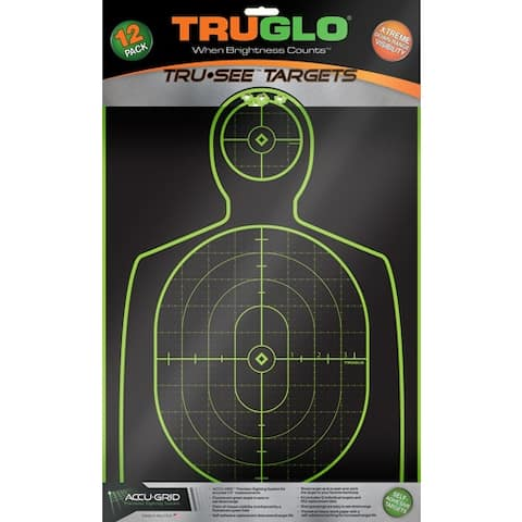 Truglo tg13a12 truglo tru-see reactive target handgunner 12 x 18 12-pack
