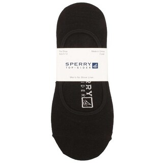 Sperry Mens No Show Liner Socks in Black