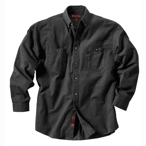 Dri Duck Mens Sawtooth Shirt Brick Long Sleeve Shirt